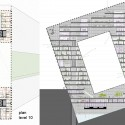 Hotel + Congress Center Proposal / OOIIO level 10 plan and section