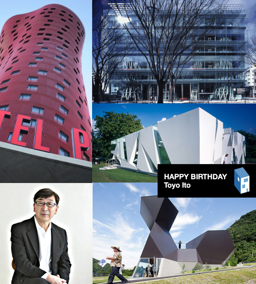 Happy 72nd Birthday, Toyo Ito! Courtesy of ArchDaily