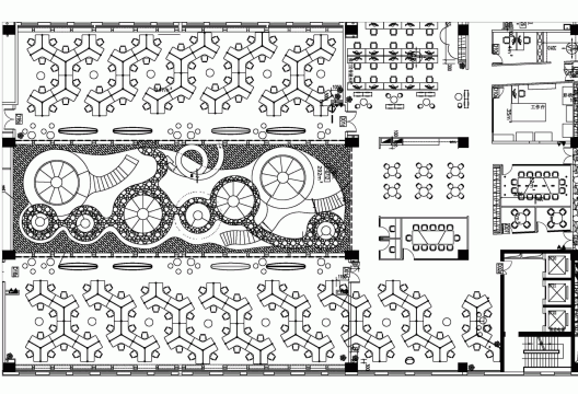 پلان طراحی دفتر کار شرکت 360HQ