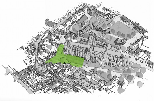 Canterbury cathedral landscape design competition archdaily for Landscape design site plan