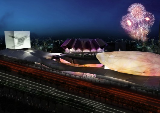 Reiser + Umemoto's Taipei Pop Music Center Breaks Ground in Taiwan Courtesy of Reiser + Umemoto, RUR Architecture PC