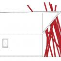 Nousfit Warehouse / Hideo Horikawa Architect & Associates North Elevation