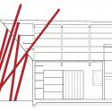 Nousfit Warehouse / Hideo Horikawa Architect & Associates Section