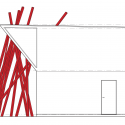 Nousfit Warehouse / Hideo Horikawa Architect & Associates South Elevation