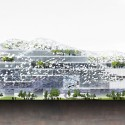 Taichung City Cultural Center Competition Entry / RMJM east elevation