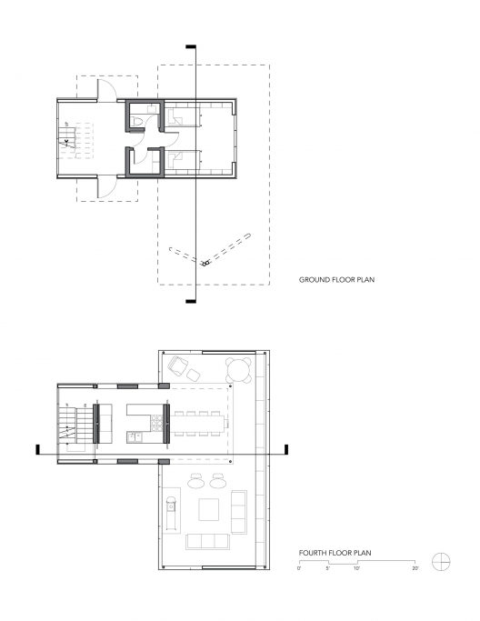 The tower house gluck archdaily for Tower house plans