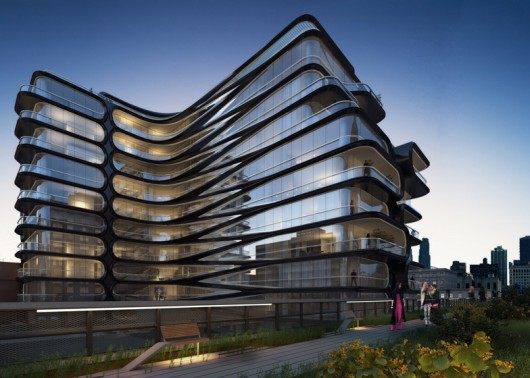 Zaha Hadid Unveils New York Apartment Block Alongside High Line Courtesy of Related Companies