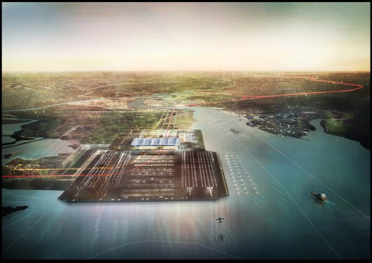 Mayor of London Suggests Three Potential Sites for Major Airport Foster + Partners' Proposal for Thames Hub