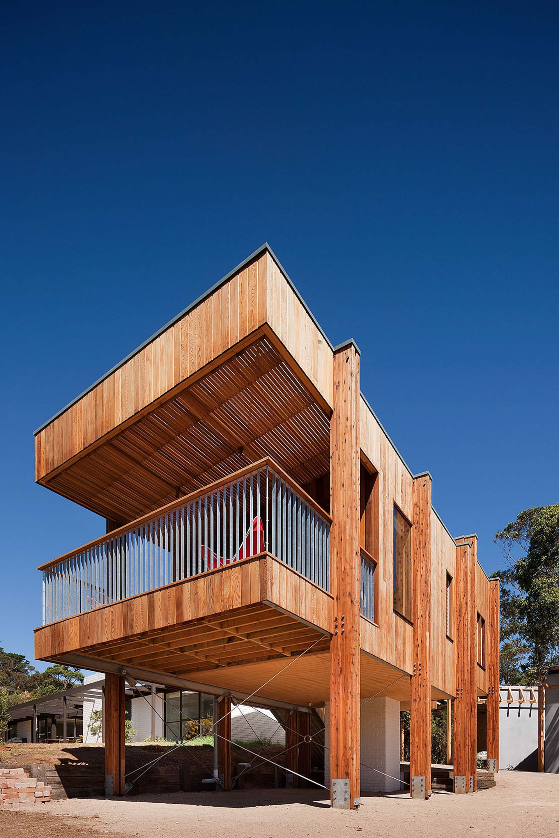 a lofted beach retreat by clare cousins