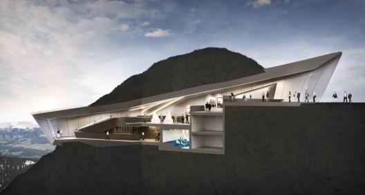 طراحی فضای فرهنگی،طراحی موزه،طرح جدید زاها حدید