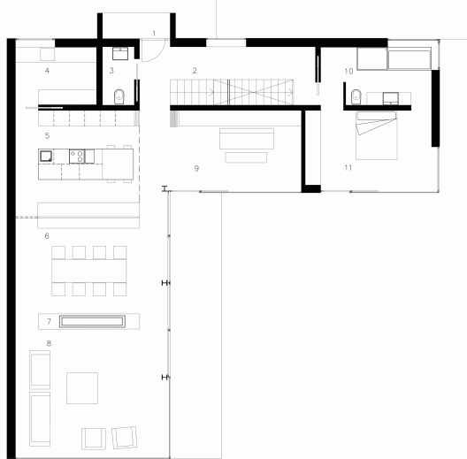 Stahl house floor plan images for Case study house 8 floor plan