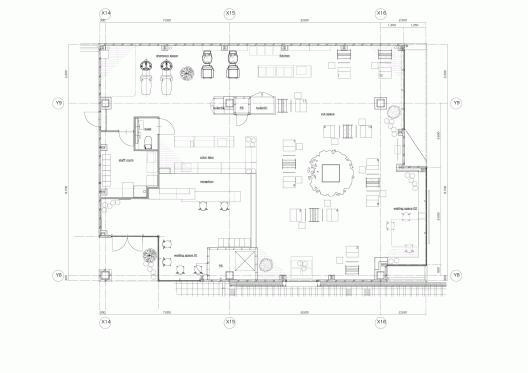Lecinq hair salon ninkipen archdaily Hair salon floor plans