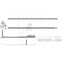 Casa Palmas Seis / POMC arquitecto Longitudinal Section