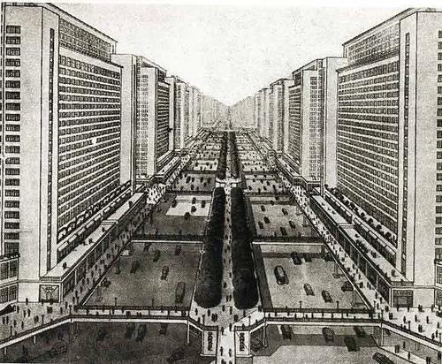 Visión enfermiza de ciudad proyectada por Le Corbusier