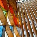 Recientemente publicado fotos de la catedral de cartón de Shigeru Ban en Nueva Zelanda © Flickr usuario Jocelyn Kinghorn, cortesía de Creative Commons.