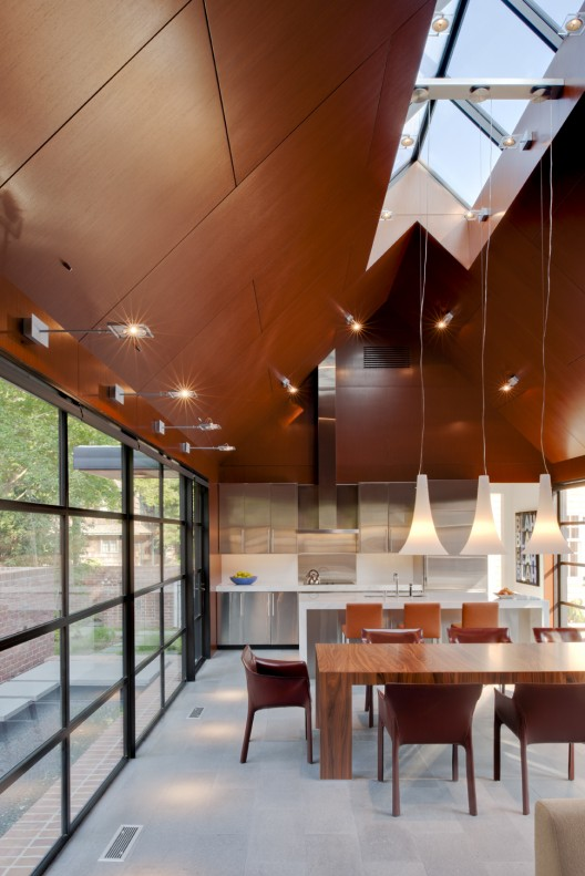 308 mulberry robert m gurney architect archdaily - Techo de madera interior ...