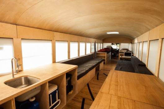 Students Thesis Turns Bus Into Tiny House The PractitioNERD