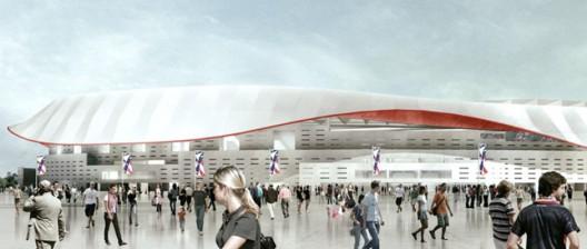 طرح استادیوم دهکده المپیک مادرید اسپانیا
