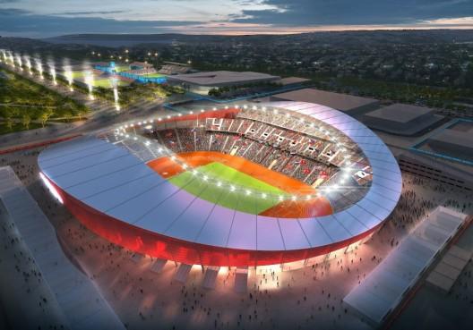 طرح استادیوم دهکده المپیک استامبول ترکیه