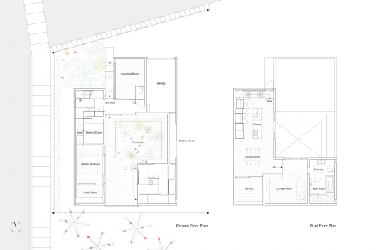 Courtyard House in Peach Garden / Takeru Shoji Architects ... on 1916 antique home plans, minimalist home floor plans, permaculture house plans, playground house plans, patio home floor plans, landscaping plans, potting house plans, nursing home floor plans, dogs house plans, michigan house plans, garden furniture, for the back yard guest house plans, garden playhouse, chicken coop plans, crafts house plans,