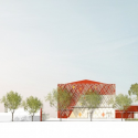 Jean-Claude Carrière Theatre / A+ Architecture Elevation