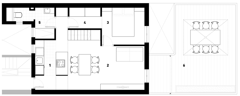 Old apartment converted to a simple functional home for Functional floor plans