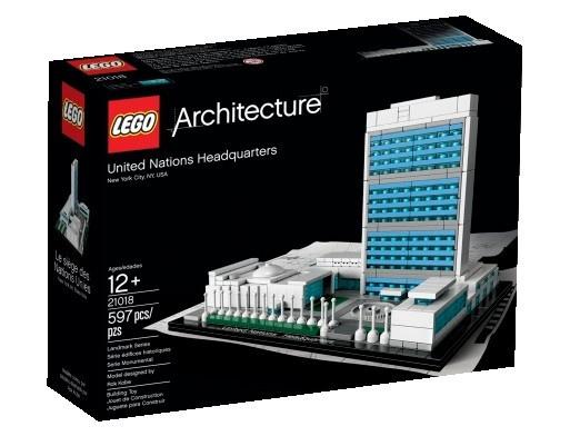 Lego architecture united nations headquarters