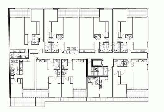پلان آپارتمان،پلان واحد آپارتمانی