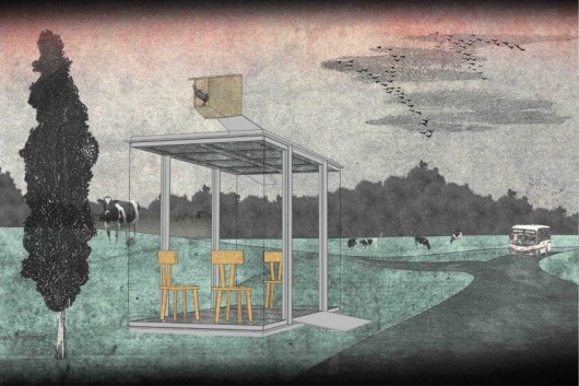 world famous architects design bus stops for tiny austrian