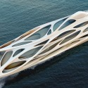 Zaha Hadid Designs Superyacht for Blohm+Voss © Unique Circle Yachts / Zaha Hadid Architects for Bloom+Voss Shipyards