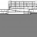 Sección Centro de Auditorios en el Campus WU / BUSarchitektur