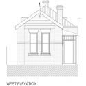 Brunswick House / Christopher Botterill West Elevation