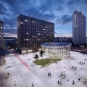"GowinSiuta Studio Wins 2013 ""Changing the Face"" Competition in Warsaw Birds Eye View. Image Courtesy of GowinSiuta"