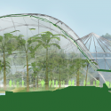 Sustainable Hothouse / C.F. Møller Architects Palmhouse Section