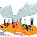 Departments Of Law And Central Administration / CRAB Studio Sketch