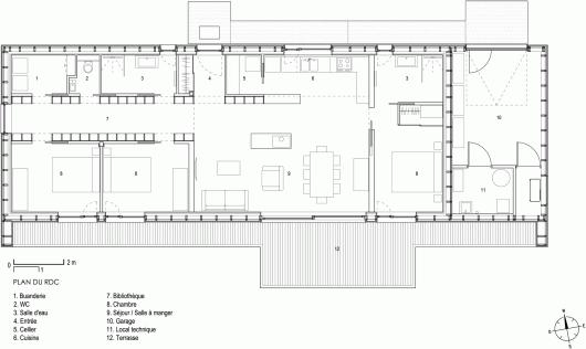 Plan maison 90m2 maison r1 100m plan maison 90m2 4 for Plan maison 100m
