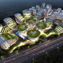 UA Studio 7 and Aedas' Central Business District for Hongqiao Airport Now Underway Courtesy of UA Studio 7