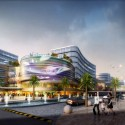 UA Studio 7 and Aedas' Central Business District for Hongqiao Airport Now Underway Commercial Street. Image Courtesy of UA Studio 7