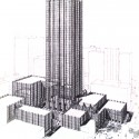 AD Classics: PPG Place / John Burgee Architects with Philip Johnson Axonometric view