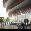 "Kengo Kuma Presents Shortlisted Design for ArtA ""Civic Center"" in Arnhem Entrance. Image © Kengo Kuma & Associates"
