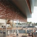 "Kengo Kuma Presents Shortlisted Design for ArtA ""Civic Center"" in Arnhem Raised Street. Image © Kengo Kuma & Associates"