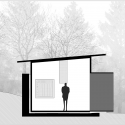 Little House on the House  / Studio x Architettura Longitudinal Section