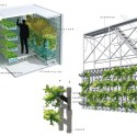 A Vision for a Self-Reliant New York Terreform-designed food growing cells and vertical growing surfaces. Image Courtesy of Terreform