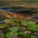 A Vision for a Self-Reliant New York Aerial view of the South Bronx and Manhattan, Master Plan B. Image Courtesy of Terreform