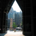 AD Classics: PPG Place / John Burgee Architects with Philip Johnson View into courtyard. Image © Highwoods Properties 2014