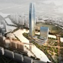 Woods Bagot Reveals Design for Wenling Sheraton Aerial Perspective. Image Courtesy of Woods Bagot