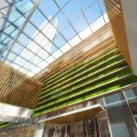 Woods Bagot Reveals Design for Wenling Sheraton Atrium - Looking Up. Image Courtesy of Woods Bagot
