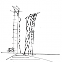 DC Towers I  / Dominique Perrault Architecture Sketch