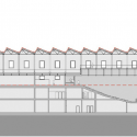 Daoíz y Velarde Cultural Centre / Rafael De La-Hoz Longitudinal Section