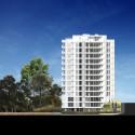 Richard Meier Designs Two-Tower Residential Development for Bogota West Elevation. Image © Richard Meier & Partners